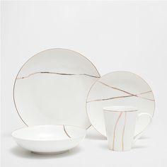 Golden-edge porcelain tableware