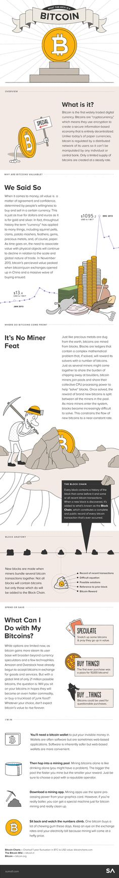 What the Heck Is a Bitcoin? #infographic #money #business