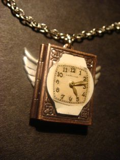 Victorian Style Steampunk Locket Necklace with by ClockworkAlley, $25.00 (Time Flies)