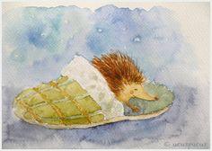 Children Wall Decor Hedgehog Sleep Nursery Art Print