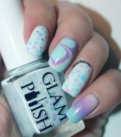 Painted Pretty: Glam Polish: Cloud Atlas and a Water Marble Accent!