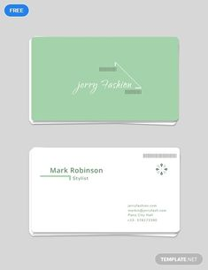 a modern business card template for those in the fashion industry download this template for
