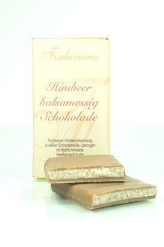 Himbeerbalsamessig Schokolade 70g  Raspberry balsamic vinegar chocolate 70g Balsamic Vinegar, Raspberry, Place Cards, Place Card Holders, Chocolate, Vinegar, Deli Food, Mustard, Raspberries