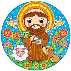 """Giovanni di Pietro di Bernardone, mais conhecido como São Francisco de Assis. Uma """"luz que brilhou sobre o mundo"""", de acordo com Dante Alighieri. ( Arte: Andreia Matos )"""