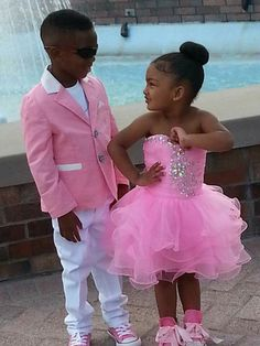 Wedding Suits Custom Made Pink Jacket White Pants Kid Suits Boy Wedding Suit/Boy's Custom-made Jacket Pants Tie Shirt Boy Wedding Suit Ki Cute Mixed Babies, Cute Black Babies, Black Baby Girls, Beautiful Black Babies, Cute Baby Girl, Pink Kids, Baby Boy, Cute Kids Fashion, Baby Girl Fashion