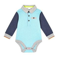 2367a8587 Baker by Ted Baker Baby boys  blue polo body suit