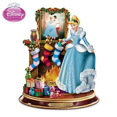 "Disney Cinderella Sculpture With Authentic Movie Still Art Disney Cinderella's Surprise Sculpture  Illuminated sculpture features Disney's Cinderella preparing for the holidays, authentic movie still artwork. Edition limited to 120 crafting days.  Measures 5"" H  Price:     $39.99"