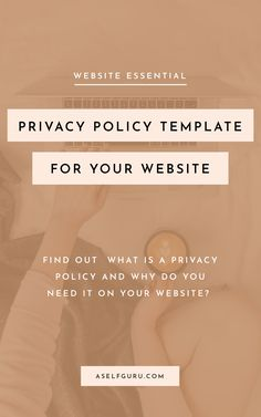 A Privacy Policy is necessary on every website. This legal document informs your visitors how you collect and use their personal information. Does your blog have a Privacy Policy? If not, check out this Privacy Policy template written by a lawyer! This template is perfect for bloggers, creatives, entrepreneurs, coaches and so much more! This is an affiliate link. #legal #legalforms #bloglegal #blog #legalpages #website #lawyer #business #onlinebusiness #legaltemplates #privacypolicy… Make Money Blogging, Make Money Online, How To Make Money, Business Tips, Online Business, Legal Business, Document, Privacy Policy, Work From Home Jobs