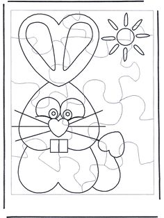 Easter bunny puzzle 1