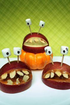 Halloween Idea: Apple Monster Mouths