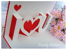 DIY adorable pop-up Valentine's Day card!