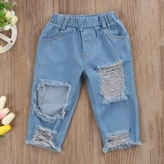 2017 Fashion Children Girls Clothes Off shoulder Crop Tops White+ Hole Denim Pant Jean Headband Toddler Kids Clothing Kids Outfits Girls, Toddler Girl Outfits, Baby Outfits Newborn, Summer Fashion Outfits, Kids Fashion, My First Christmas Outfit, Long Sleeve Romper, Ruffle Sleeve, Matching Family Outfits
