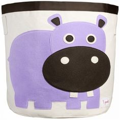 Clean up the clutter in your child's room in style with this adorable storage bin!  Perfectly sized for toys and books, this kids storage bin is made out of sturdy cotton canvas and features an animated character you and your little one are sure to love