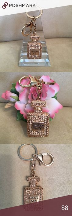 Sparkly perfume bottle keychain or purse charm.❤️️ Sparkly perfume bottle keychain or purse charm.  These charms will dress up any purse or the keys to your Rolls Royce LOL.  😄. These are brand new without tags. ❤️️💖💕 Other