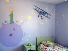 Discover recipes, home ideas, style inspiration and other ideas to try. Nursery Wall Decor, Baby Room Decor, Prince Nursery, Room Wall Painting, The Little Prince, Baby Boy Rooms, Dream Decor, Picture Wall, Wall Design