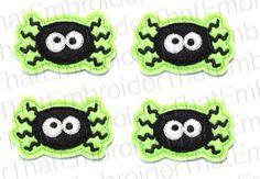 UNCUT Spooky Spider felt applique embellishments by EmbroiderThat