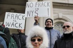 """FRACKING PROTESTS - www.GetTheFrackOut.com - Fracking proponents say it is clean energy that will help with global warming. Click the image above to read facts that say otherwise. Protesters on NYC City Hall protested the state's plan for shale oil drilling in the city's watershed. Last week, the U.S. EPA said it had """"serious reservations"""" about allowing shale gas drilling in New York City's watershed and a threat to the drinking water for 9 million people. www.GetTheFrackOut.com"""