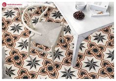 Try out #geometrictiles to give your kitchen floor a unique look