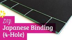 DIY Japanese Bookbinding Tutorial | 4-Hole | Sea Lemon