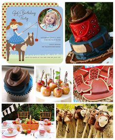 Cowgirl Birthday Party Inspiration Board...cute!!!!!!!!!! LOVE the cake!!!!!!!!!!!!!!!!!!!!!!!