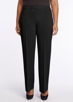 Plus-Size Lofty Crepe Menswear Pant | Lafayette 148 New York