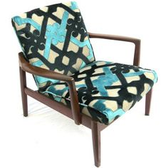 Mod chair/contemporary fabric