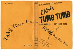 Filippo Tommaso Marinetti - Zang Tumb Tumb 1912