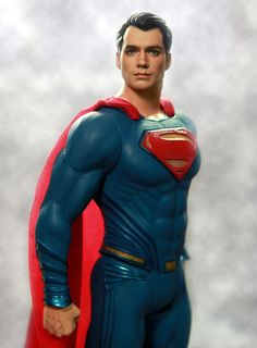 "LIVE on eBay #HenryCavill as #Superman in #BatmanvSuperman by http://ncruz.com  at http://www.ebay.com/usr/ncruz_doll_art.  Actor Henry Cavill as Superman in the upcoming Batman vs. Superman as repainted by me: artist Noel Cruz up for auction on eBay on 3.24.2016. This is a 19"" Jakks Superman with a sculpted on suit and majestic red cape."