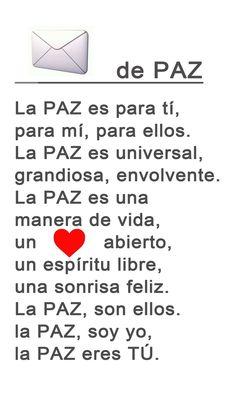 poesía dulce paz                                                                                                                                                                                 Más Word 3, Spanish Classroom, Reading Activities, Third Grade, Classroom Decor, Literature, Religion, Playing Cards, Peace