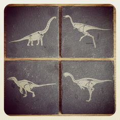 Fossil designs engraved on slate coasters - Laser engraved slate coasters | Flickr - Photo Sharing!