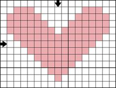 Use small mini holiday cross stitch motifs for quick gifts, teaching cross stitch or decorating your holiday house.: Free Cross Stitch Pattern - Mini Heart B