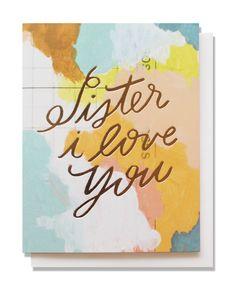 sister i love you card | mignonshop.com