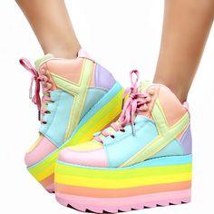 d2a8722af15 Taste My Rainbow Platform Sneakers