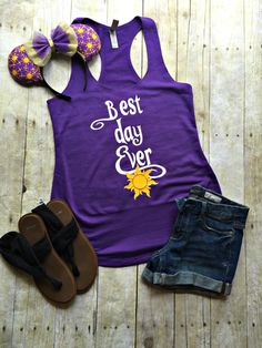 """Thank you for stopping by my shop! I am excited to have you here! Disney Addicts this top is for you!! My """"Best Day Ever"""" is perfect for your Disney vacation! ***This listing is for the tank top only!"""