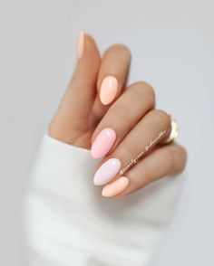 nails ideas for spring \ nails ideas ; nails ideas for winter ; nails ideas for spring ; Light Pink Nail Designs, Light Pink Nails, Peach Nails, Yellow Nails, Beautiful Nail Designs, Pastel Pink Nails, Nail Pink, Nail Designs Spring, Pink Yellow