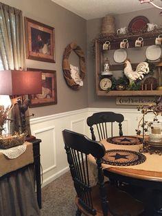 Country Primitive Decor Prim Dining Rooms