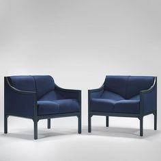 Pierre Paulin Armchairs for the office of President Fraçois Mitterand, 1984
