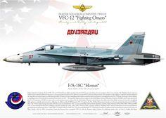 "UNITED STATES NAVY USNAVY ADVERSARY Fighter Squadron Composite Twelve (VFC-12) ""The Fighting Omars"" NAS Oceana"