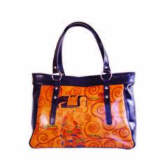 Ručne maľovaná kabelka 8602 inšpirovaná motívom Gustav Klimt