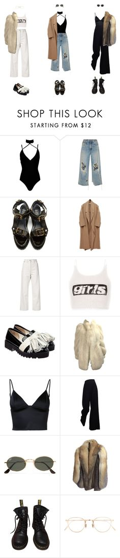 """feel the city searching for my loneliness"" by sunnadogg ❤ liked on Polyvore featuring Boohoo, R13, Sacai, Lemaire, Alexander Wang, Anouki, T By Alexander Wang, The Row, Ray-Ban and Anne Klein"