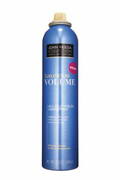 No. 1: John Frieda Luxurious Volume All Out Hold Hairspray, $6.49, 13 Best Hairsprays