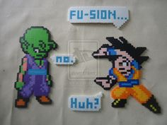 Fusion ... or not - Dragon Ball perler beads by blackliquorice23 on deviantART