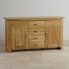 Tokyo Natural Solid Oak Large Sideboard - Sideboards - Shop by Product