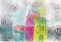 gelli plate.mix media by Macridea
