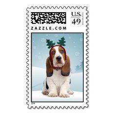 Basset Hound Postage Stamps http://www.zazzle.com/basset_hound_christmas_postage_stamps-172683446572349656?rf=238588924226571373