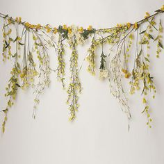 it matches perfectly with the cream feathers floor (also on the garage sale! Flower Garlands, Flower Decorations, Botanical Bedroom, Diy Room Decor For Teens, Flower Installation, Shower Routine, Bedroom Plants, Baby Shower Fall, Wedding Show