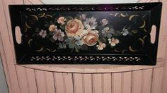 LARGE Antique Tole Tray