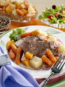 Easy Pot Roast - one of my family's favorite meals - can you believe this is from Diabetic Cooking cookbook! from HollyClegg.com