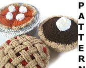Bake a Pie Play Food Crochet Pattern - finished items made from pattern may be sold