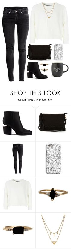 """""""Geen titel #435"""" by dipske ❤ liked on Polyvore featuring Alexander Wang, Warehouse, H&M, INDIE HAIR, Glamorous, LUMO, Edge of Ember and Printable Wisdom"""